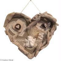 DIY Cadre coeur en bois flotté