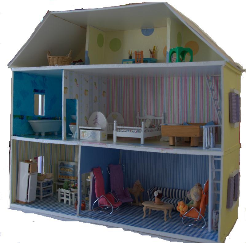 Fabriquer maison de poup e en carton plume id es et - Les etapes pour construire une maison ...