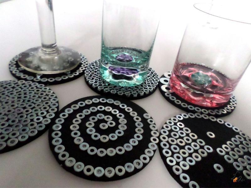 Diy des dessous de verres originaux pour la f te des p res id es et conseils d coration de table - Dessous de verre originaux ...