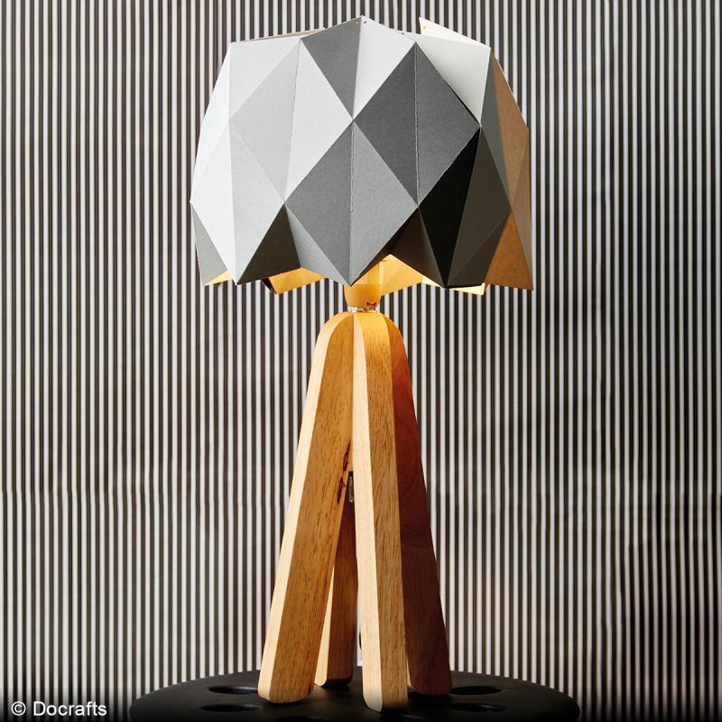 diy lampe origami id es et conseils d coration. Black Bedroom Furniture Sets. Home Design Ideas