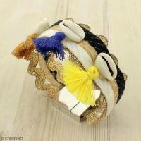 DIY Bracelet ethnique et coquillage cauri
