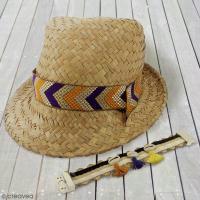 DIY facile : Un chapeau de paille customisé pour un été bohème