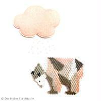 Diagramme Brick Stitch : Ours polaire