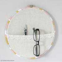 DIY Cercle à broder revisité version vide poches