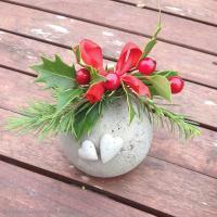 DIY Boule de Noël en béton créatif