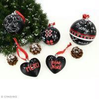 Bricolage de Noël : Boules ardoise personnalisées