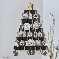Bricolage Noël : Calendrier de l'Avent à messages
