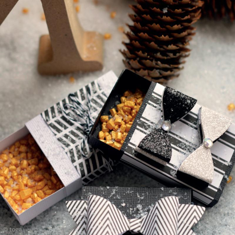 bricolage no l mini bo tes cadeaux noir blanc pour. Black Bedroom Furniture Sets. Home Design Ideas
