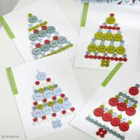 DIY facile : Cartes de Noël Boutons