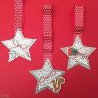 Bricolage de Noël facile: Suspensions en papier