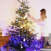 DIY Décoration Sapin de Noël Ambiance Scandinave pailletée
