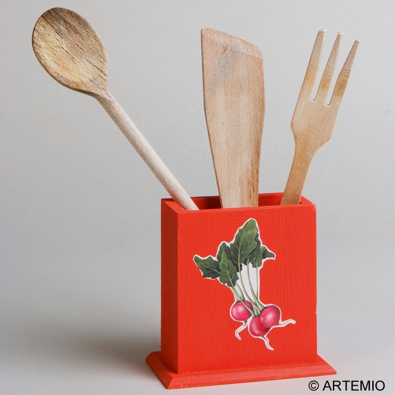 Customiser des pots crayons en bois pour la f te des for Pot pour ustensile de cuisine