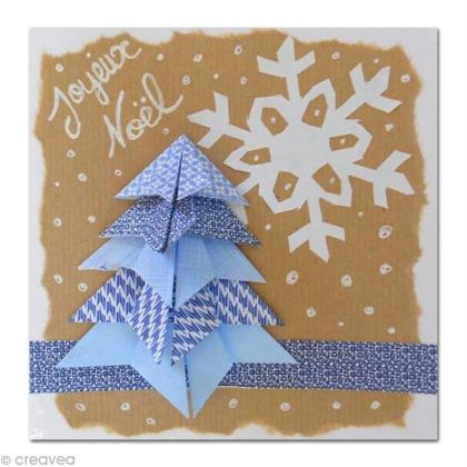 Carte de Voeux - Le sapin en Origami