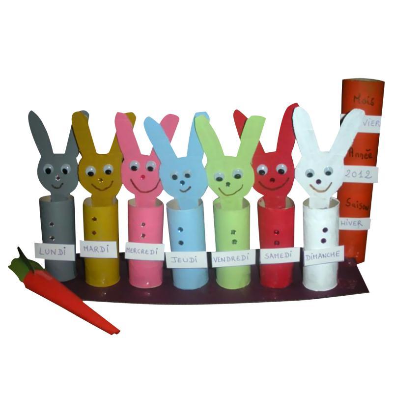 Fabriquer le semainier des petits lapins avec un enfant - Idées et ...