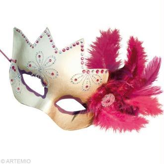 Masque de venise visage masque creavea - Masque pour visage fait maison ...