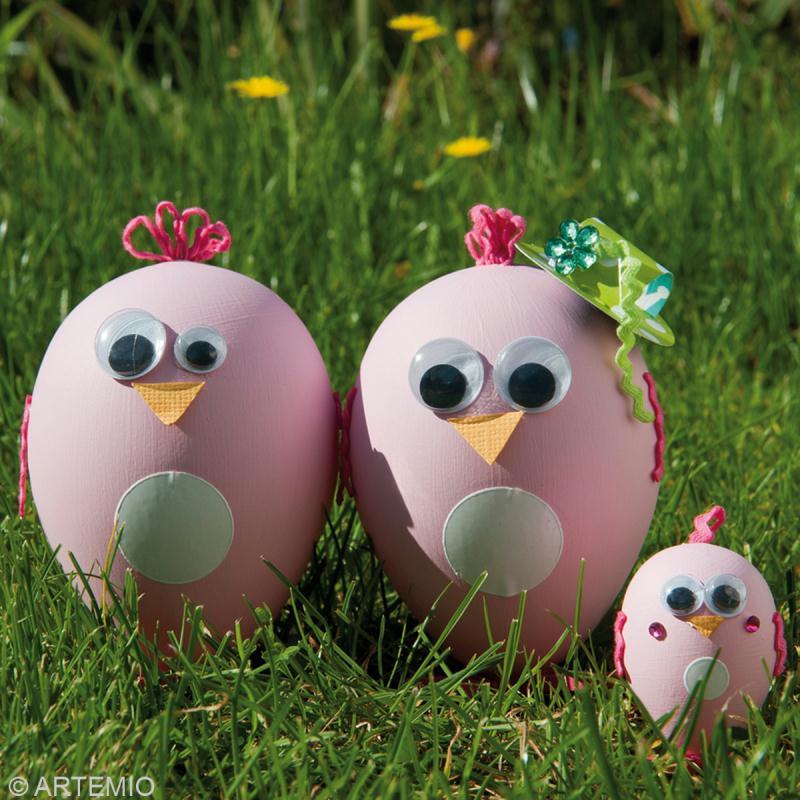 D coration oeuf de p ques poule rose id es et conseils - Decoration oeufs de paques maternelle ...