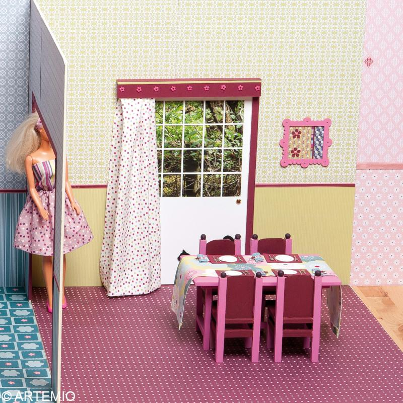 d corer une maison de poup e barbie id es et conseils. Black Bedroom Furniture Sets. Home Design Ideas