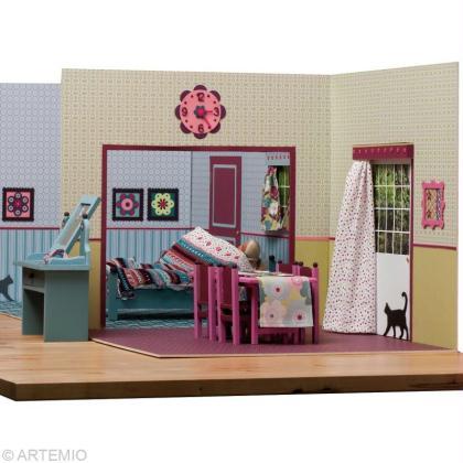d corer une maison de poup e barbie id es et conseils couture. Black Bedroom Furniture Sets. Home Design Ideas