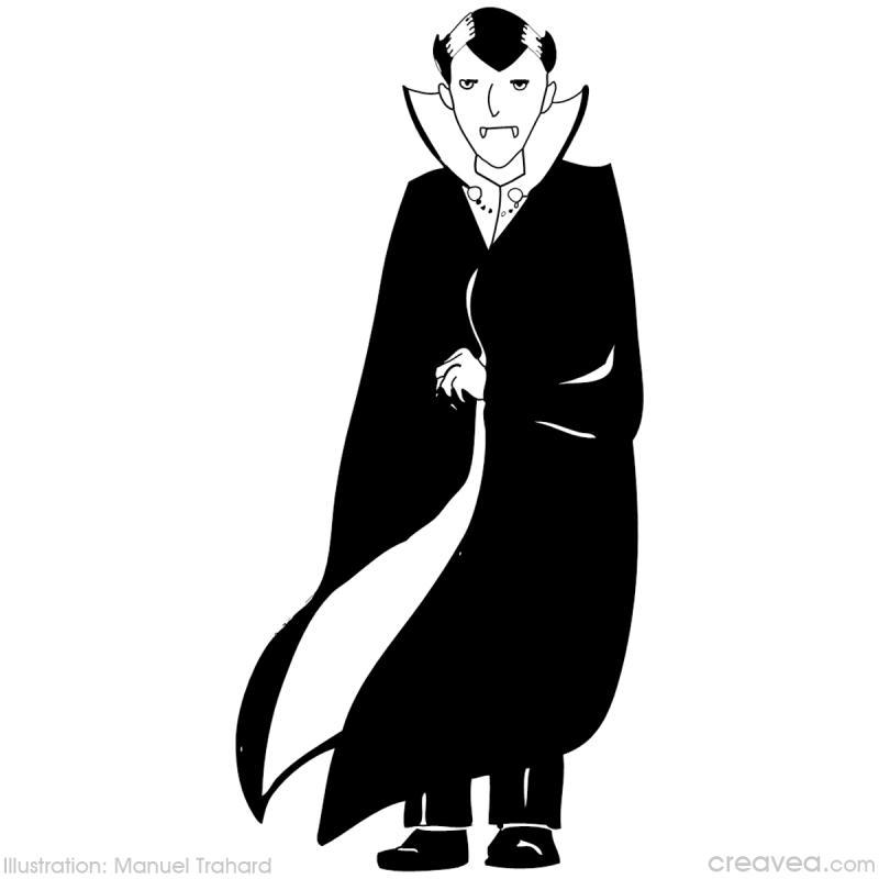 Coloriage halloween id es et conseils coloriage - Coloriage vampire a imprimer ...