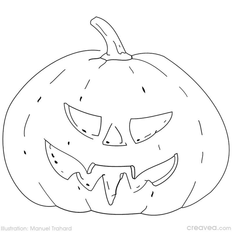 Coloriage halloween id es et conseils coloriage - Dessin de bouche a imprimer ...