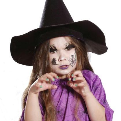 Maquillage de sorcière pour Halloween