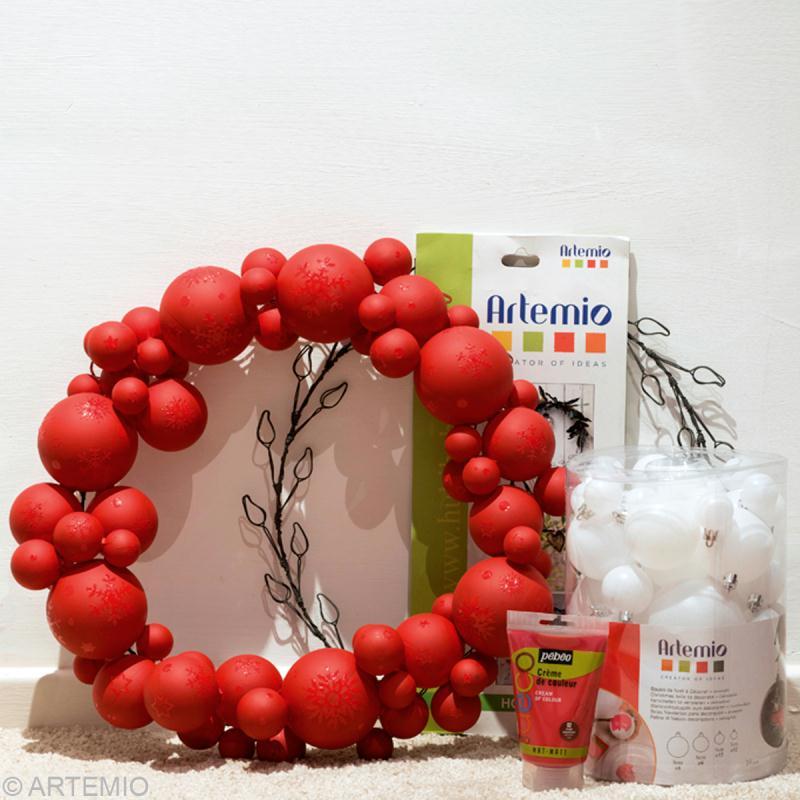 Fabrication couronne de porte Rouge pour Noël  Idées et conseils
