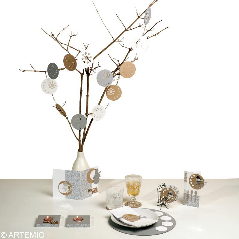 D co de table de no l tendance zen 2013 id es et - Decoration de noel pour porte ...