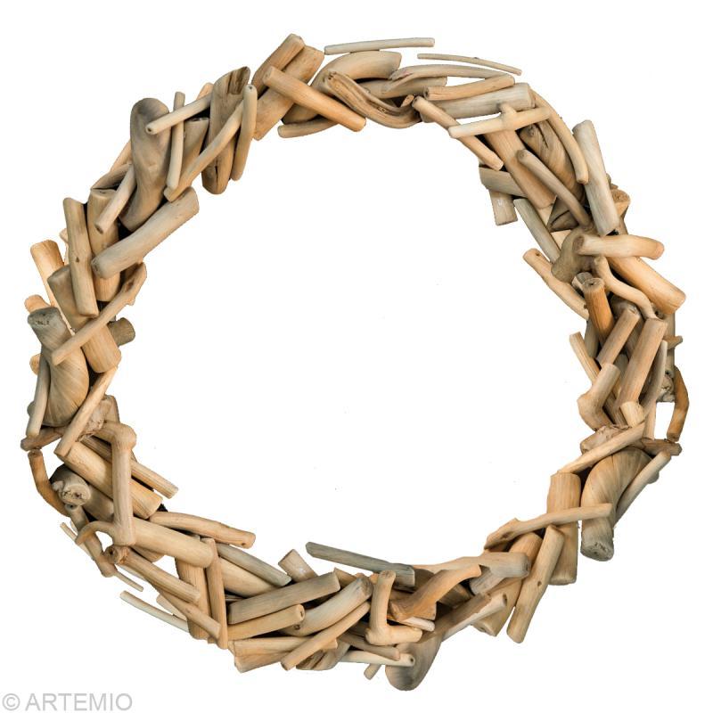 Fabriquer une couronne de no l en bois flott id es et - Fabriquer couronne de noel ...