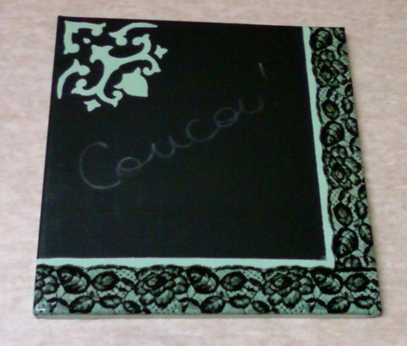 Peinture effet tableau noir cr ations home d co et for Peinture effet miroir
