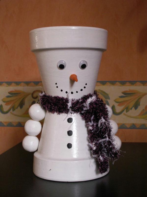 bonhomme de neige cr ations personnage en pot de celine54 n 10836 vue 7994 fois. Black Bedroom Furniture Sets. Home Design Ideas