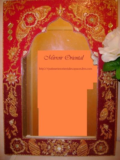 Miroir oriental dessin hene cr ation home d co et miroir de lizou n 16 942 - Miroir style oriental ...