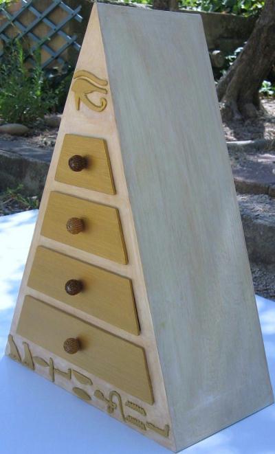 Bo te bijoux pyramide cr ation meuble en carton de www - Boite a bijoux en carton fabrication ...
