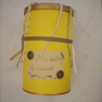Boîte à rubans or