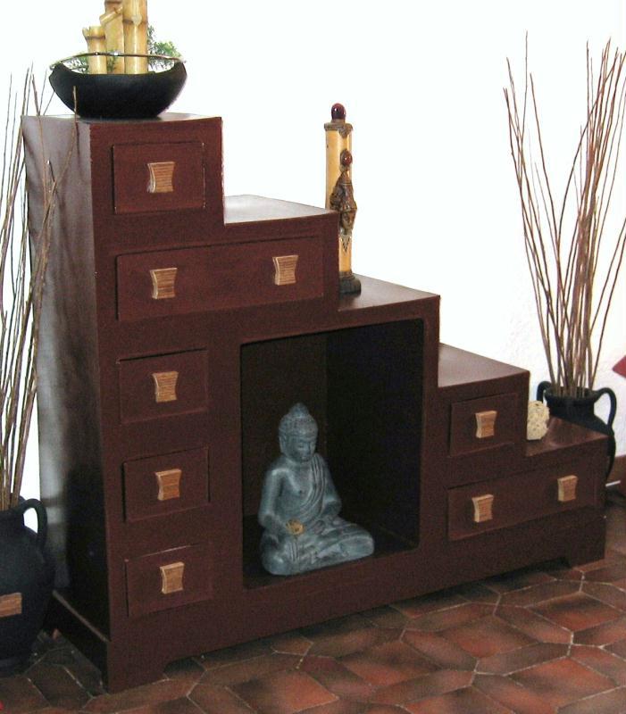 meuble escalier en carton cr ations meuble en carton de n 24003 vue. Black Bedroom Furniture Sets. Home Design Ideas