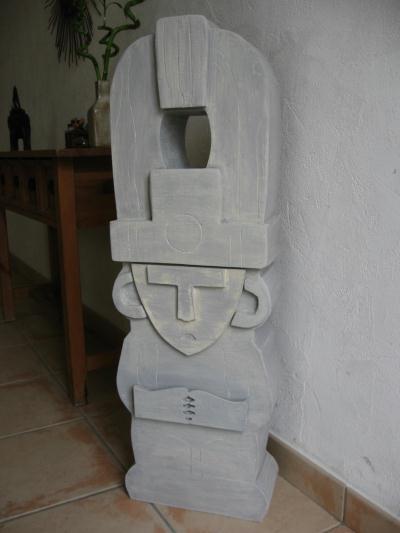 Sulpture incas en carton finition pierre cr ation meuble for Finition meuble en carton
