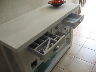 table console de cuisine tout en carton cr ation meuble en carton de n. Black Bedroom Furniture Sets. Home Design Ideas