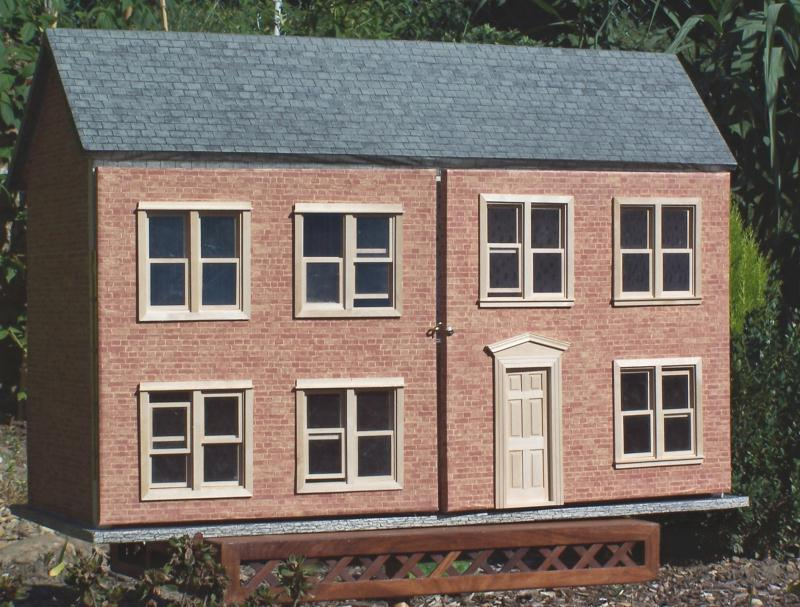 maison de poup e en carton cr ations maquettes et miniatures de maison carton n 28337 vue. Black Bedroom Furniture Sets. Home Design Ideas