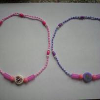 Colliers enfants rose et violet