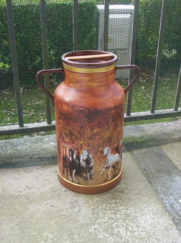 Bidon pot a lait cr ations d coration de nicoleniscotch n 30022 vue 5208 - Recyclage pot de peinture ...