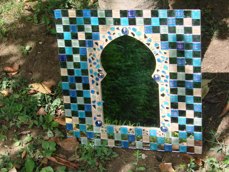 miroir oriental en mosaique cama eu bleu de jennifer4907. Black Bedroom Furniture Sets. Home Design Ideas