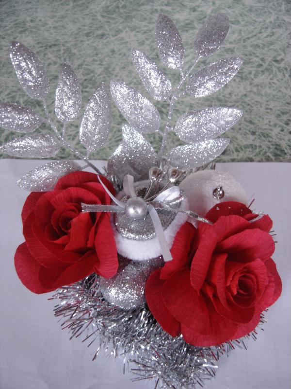 d coration de no l en papier cr pon rose cr ations art de la table de anjuya n 30395 vue. Black Bedroom Furniture Sets. Home Design Ideas