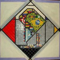 Mosaique multicolor