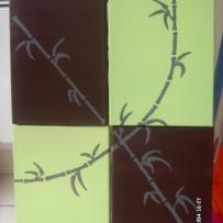 Quadriptique bambous anis et chocolat