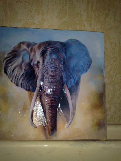 Elephant tableau 3d cr ation image 3d de bernieber n for Tableau tete d elephant