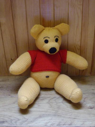 Winnie l'ourson en tricot.