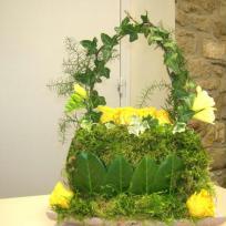 Sac d'or, composition florale