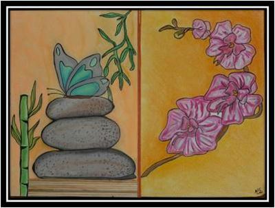 papillon au pastel sec cr ation beaux arts dessin de karine80 n 32 693 vue 3 985 fois. Black Bedroom Furniture Sets. Home Design Ideas