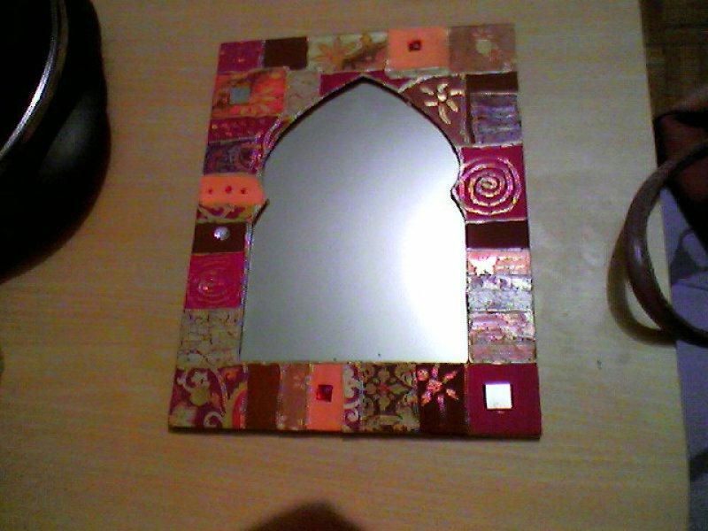 Miroir oriental cr ations d copatch de anne lise n 3314 for Miroir oriental