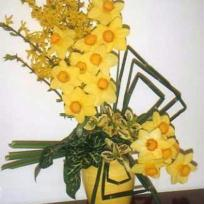 Le soleil du printemps - Composition fleurs jaunes