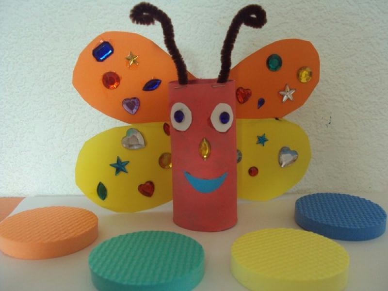 papillon r alis avec rouleau papier wc cr ations cr ations des enfants de nounoudunord n. Black Bedroom Furniture Sets. Home Design Ideas